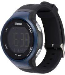 relógio digital x games xmppd553 - masculino - preto/azul esc