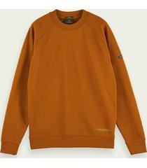 scotch & soda felpa sweater van biologisch katoen