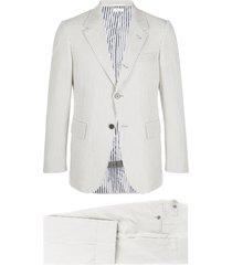 thom browne grosgrain pinstripe suit - 133 grey/white