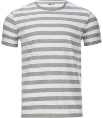 camiseta a rayas 2 colores color gris, talla xs