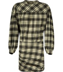 isabel marant checked print dress