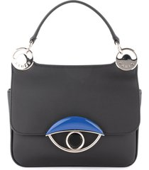 kenzo tali shoulder bag in black leather