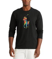 polo ralph lauren men's tie-dye big pony logo lightweight pajama top