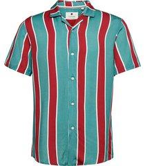 akleo ss viscose stripe kortärmad skjorta multi/mönstrad anerkjendt