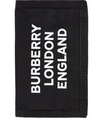 burberry logo print flap-over wallet