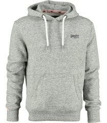 superdry grijze sweater hoodie