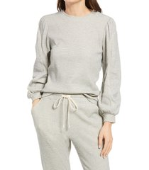 women's current air balloon sleeve pullover & headband, size x-small - grey