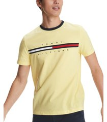 tommy hilfiger men's logo-print t-shirt