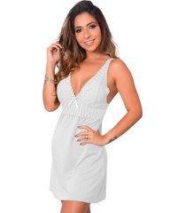 1 camisola renda sensual linha noite lingerie feminina branco - branco - feminino - dafiti
