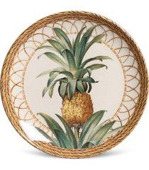 conjunto 6pçs pratos de sobremesa porto brasil coup pineapple branco/bege
