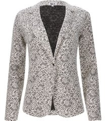 blazer flores color blanco, talla 8