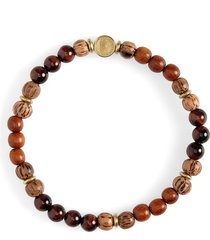 caputo & co. stone & wood bead bracelet in red tiger eye /bayong wood at nordstrom