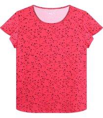 camiseta cuello redondo con estampado mini flores