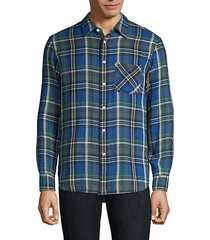 classic-fit plaid beach shirt