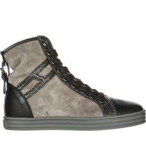 scarpe sneakers alte donna in camoscio r182