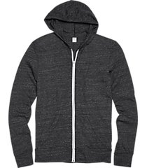 alternative apparel charcoal modern fit full zip eco jersey hoodie
