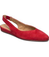 woms sling back ballerinaskor ballerinas röd tamaris