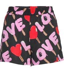 love moschino shorts kort kjol multi/mönstrad love moschino