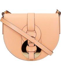 chloé shoulder bag in orange leather