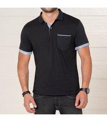 camiseta asier negro para hombre croydon