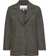 suiting blazers casual blazers ganni