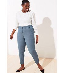 loft loft plus diamond textured skinny ankle pants