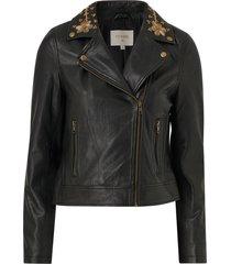 skinnjacka walliscr leather jacket
