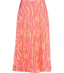 2nd jen zebra knälång kjol rosa 2ndday