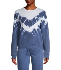 tie-dyed cotton-blend pullover