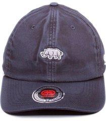 boné ecko aba curva strapback dad hat mini rhino preto - kanui