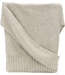 lemaire sweater-style satchel - grey