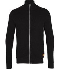 kronstadt erik zip vest cardigan 50004 black/charcoal -
