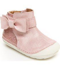 toddler girl's stride rite genevieve bootie, size 5.5 w - pink