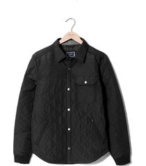 chaqueta color siete para hombre - negro