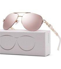gafas lentes sol mujer fenchi piloto gradiente uv400 257a rosado