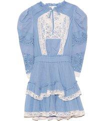 isidore dress in cobalt