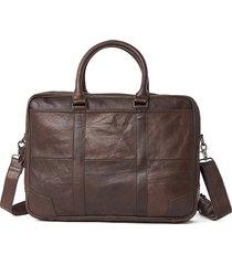 vera pelle business laptop borsa valigetta crossbody borsa