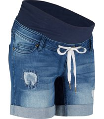 shorts di jeans prémaman con laccetto (blu) - bpc bonprix collection
