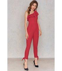 trendyol kirmizi jumpsuit - red