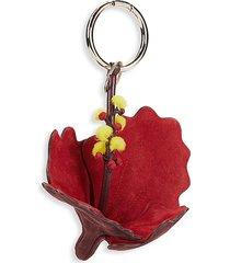 valentino garavani women's hibiscus key chain - red