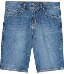 bermuda para hombre jean  color azul, talla 28
