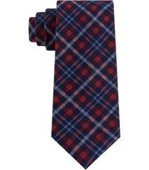 tommy hilfiger men's boston classic plaid tie