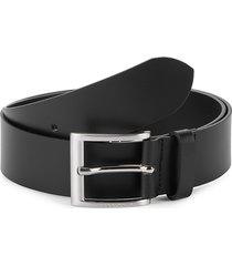 boss hugo boss men's umbe leather belt - black - size 34