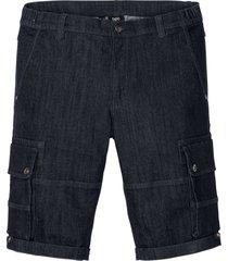 bermuda in jeans elasticizzati con taglio comfort regular fit (blu) - bpc bonprix collection