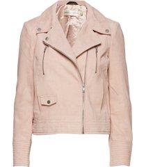 acezine jacket leren jack leren jas roze inwear