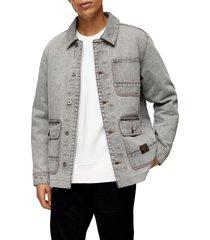 men's topman denim chore coat