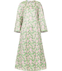 bambah rosa kaftan dress - green