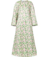 bambah rosa kaftan dress - green