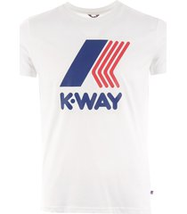 k-way pete macro logo t-shirt - white k009ff0