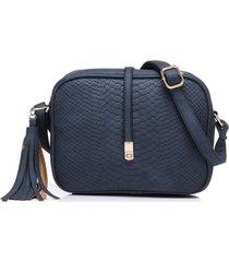 bolso mujer pequeño rectangular retro cuero pu b695 azul